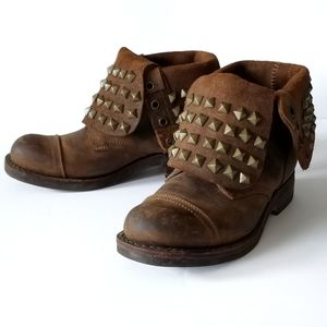 Jeffrey Campbell | Fold Over Studded Combat Boots